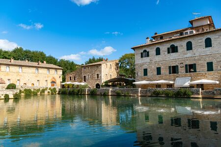 Antique Thermal Baths In The Medieval Village Bagno Vignoni