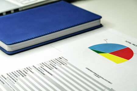Business finance, accounting, statistics and analytic research concept. Financial analysis business plan Zdjęcie Seryjne