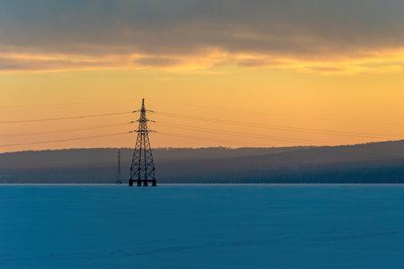 Industrial high voltage electricity tower Reklamní fotografie