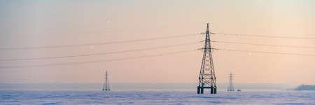 Electricity Industrial transmission power high voltage lines Reklamní fotografie