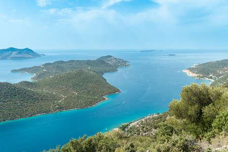 View of Mediterranean coast near Kas town, southern Turkey Stock fotó
