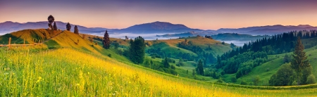 Morning sunny day is in mountain landscape. Carpathian, Ukraine, Europe. Beauty world.