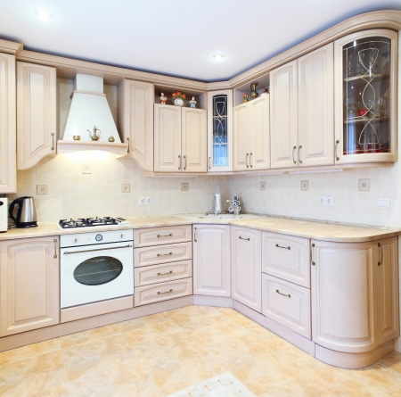 furniture detail: The new kitchen room, modern design Stock Photo