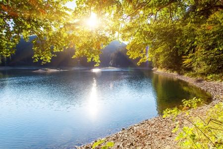 carpathian mountains: Turquoise mountains lake Synevir. Carpathian mountains, Ukraine, Europe. Beauty world. Stock Photo