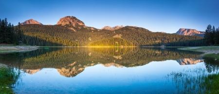 montenegro: Black lake in Durmitor national park in Montenegro, Europe. Beauty world.