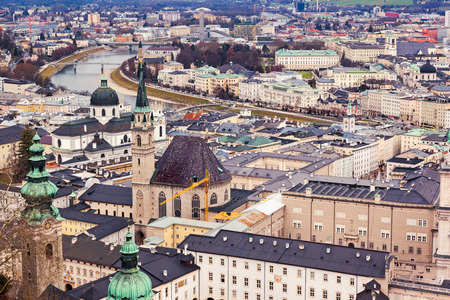 fantastic view: Fantastic view of the historic city of Salzburg. Austria, Europe. Beauty world.