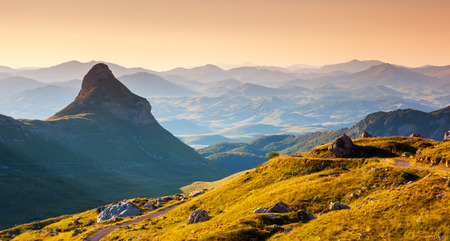 montenegro: Fantastic landscape at the foot of Stožina in the national park Durmitor in Montenegro, Balkans. Dramatic scenery. Europe. Beauty world.