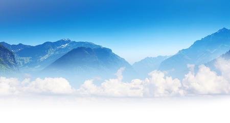 impressive: Beautiful view of alpine meadows. Upper Svaneti, Georgia, Europe. Caucasus mountains. Beauty world.