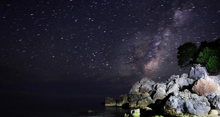 dark nebula: Long exposure of the Milky Way and the dark nebula