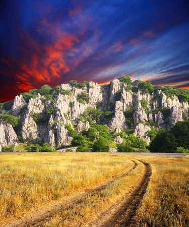 morning sky: Beautiful landscape under morning sky with clouds