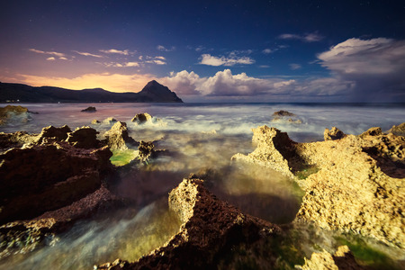 sicilia: Fantastic view of the nature reserve Monte Cofano. Dramatic scene in cape San Vito. Sicilia, Italy