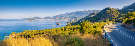 fantastic view: Fantastic view of the Sveti Stefan, small islet and resort in Montenegro.