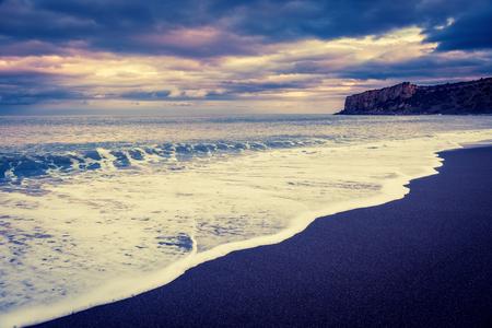 fantastic view: Fantastic view of beach Torre Conca (cape Rais Gerbi) in Cefalu. Tyrrhenian sea. Sicilia, Italy