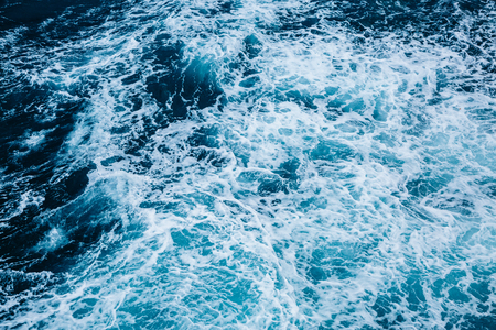 Rapid sea while sailing ship. Dramatic and picturesque scene. Beauty world.