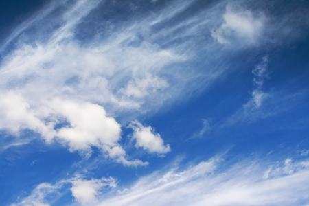 white fluffy clouds in the blue sky Stock Photo - 87662986