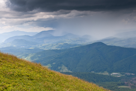 Landscape with mountains and storm clouds Stock Photo - 87662912