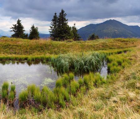 Beautiful mountain landscape with the lake Stock Photo