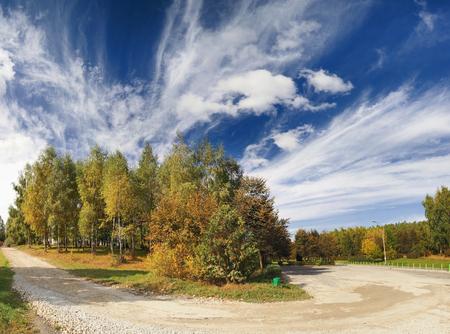 Beautiful autumn day in the park 版權商用圖片