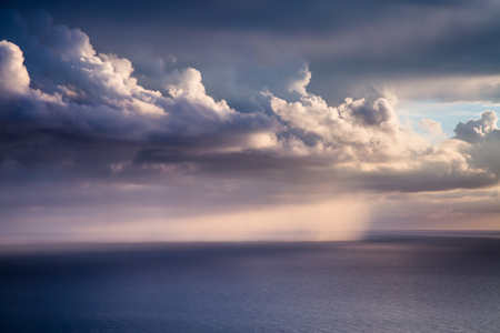 Fantastic view of the dark overcast sky. 版權商用圖片