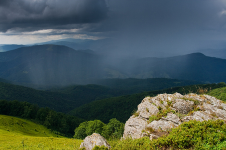 Landscape with mountains and storm clouds Stock Photo - 95596516