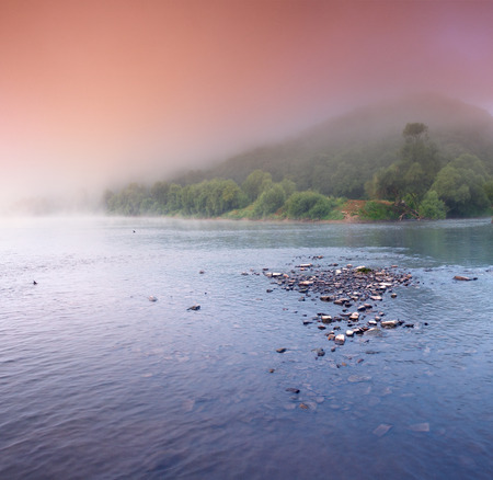 Beautiful landscape with the river