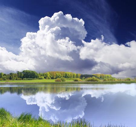 Beautiful summer day at the lake