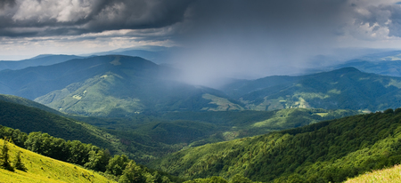 Landscape with mountains and storm clouds Stock Photo - 95710125