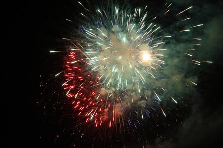 large festive firework on a black background