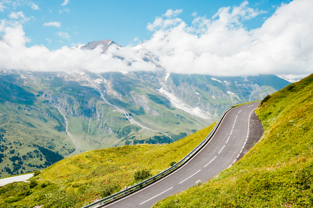 Scenic surroundings near the Grossglockner High Alpine Road. Great and gorgeous day scene. Famous tourist attraction. Location place Hochtor Pass, Salzburg Austria Europe. Explore the world's beauty. Stock Photo - 101293944