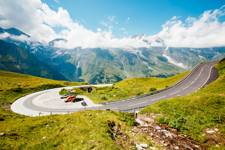 Scenic surroundings near the Grossglockner High Alpine Road. Great and gorgeous day scene. Famous tourist attraction. Location place Hochtor Pass, Salzburg Austria Europe. Explore the worlds beauty.