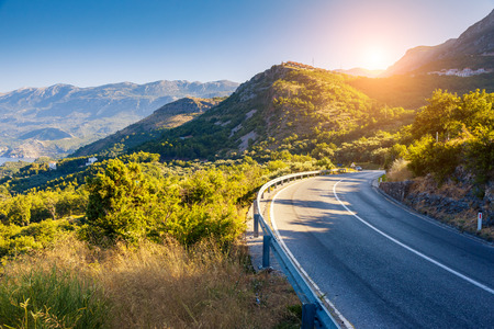 Wonderful views of the hills at sunny day. Unusual and gorgeous scene. Location place resort Montenegro, Balkan peninsula, Adriatic sea, Europe. Artistic picture. Discover the world of beauty.