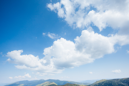 Perfect moment of the azure sky on a sunny day with clouds. Scenic image of textured sky. Ecology concept - climate change in the environment. Picturesque wallpaper. Discover the beauty of earth.