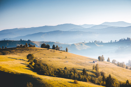 Awesome alpine highlands in sunny day. Location Carpathian national park, Ukraine, Europe. Picture of wild area. Scenic image of hiking concept. Superb tourism wallpapers. Explore the beauty of earth. Фото со стока - 120314960