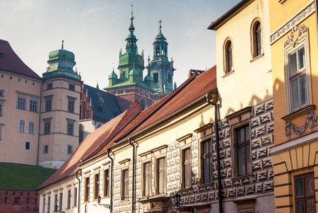 Fantastic view of the ancient city Krakow on a sunny day. Gorgeous and picturesque scene. Location place Poland, sightseeing Europe. Popular tourist attraction. Explore the worlds beauty. 写真素材