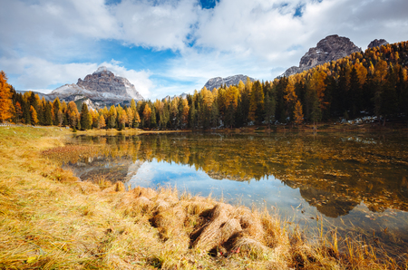 Splendid lake Antorno in National Park Tre Cime di Lavaredo. Location Dolomiti alps, South Tyrol, Italy, Europe. Scenic image of wild area. Lifestyle hiking concept. Explore the beauty of earth.