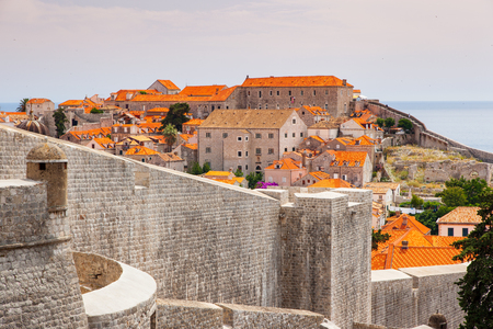 Fantastic view of the ancient city Dubrovnik on a sunny day. Gorgeous and picturesque scene. Location place Croatia, sightseeing Europe. Popular tourist attraction. Explore the worlds beauty.