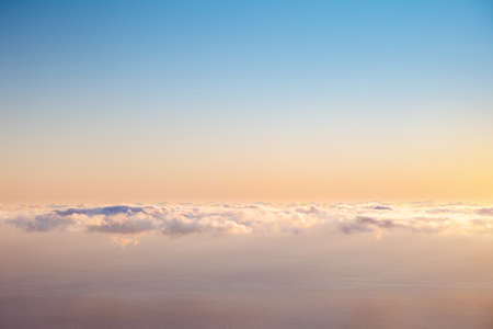 Spectacular moment of the azure sky at sunrise with clouds. Scenic image of textured sky. Ecology concept - climate change in the environment. Picturesque wallpaper. Discover the beauty of earth.