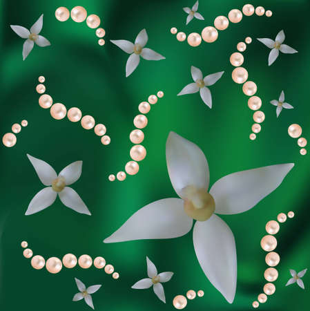 Abstract vector background with colours and pearls. Are used mesh.