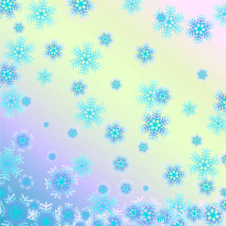 Beautiful background with snowflakes. Illustration