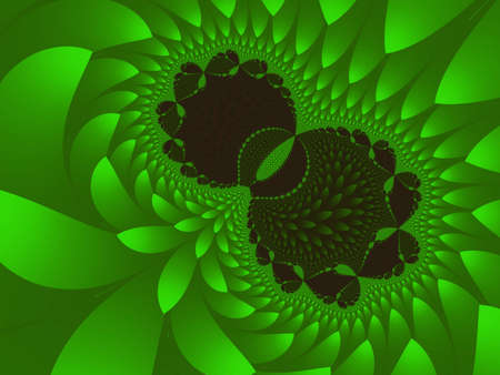 half of apple: Computer-generated fractal is a beautiful green, like a half apple. Stock Photo