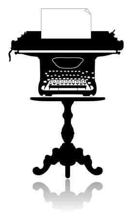 type writer: Macchina da scrivere sul tavolino