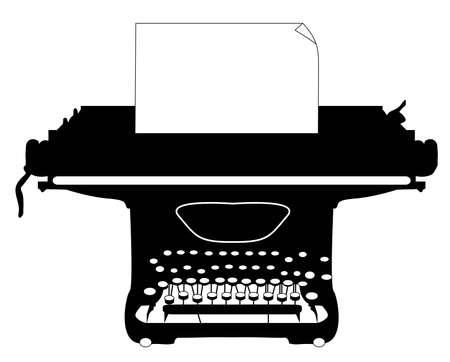 type writer: Macchina da scrivere Vettoriali