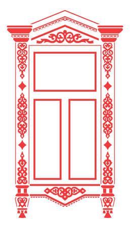 Traditional Russian window_2 Illustration