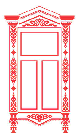 russian culture: Traditional Russian window_2 Illustration