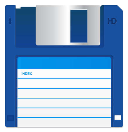 Blue Floppy Disk Stock Photo