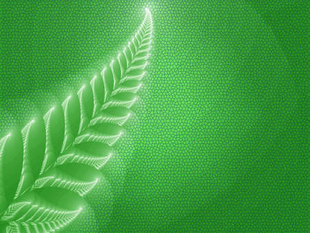 Illustration of a beautiful green background with abstaktnogo ferns Stock Illustration - 14177430