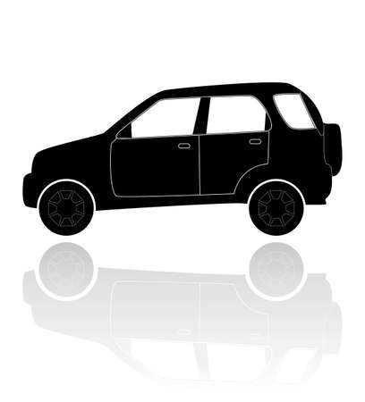 A silhouette of a car Vector