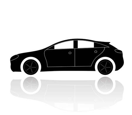 A silhouette of a car