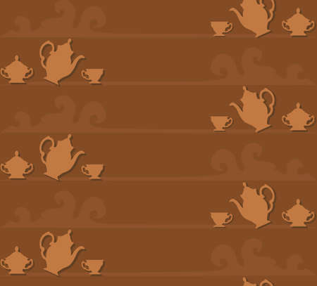Coffee seamless background Stock Vector - 14814869