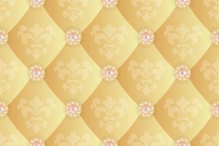 Seamless background with Fleur de lis on a yellow